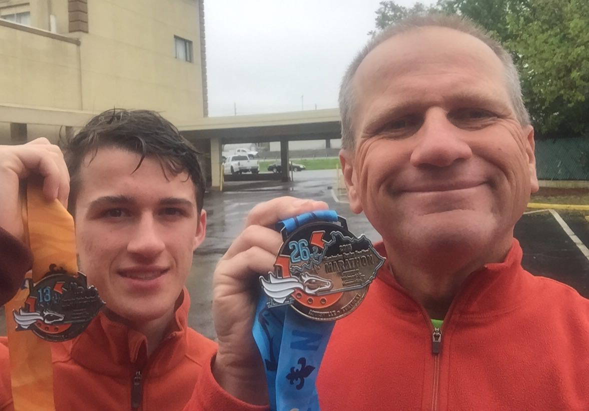 Father & Son Marathoners and 7 Bridges Competitors: Jean Paul and Devin Vaudreuil
