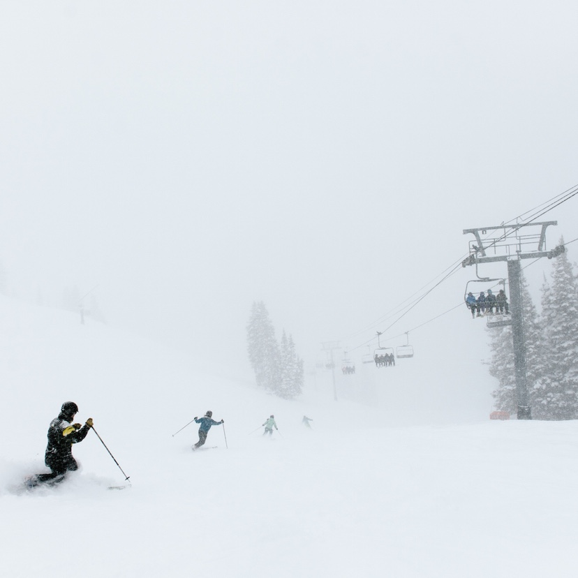 Skiing at Alta